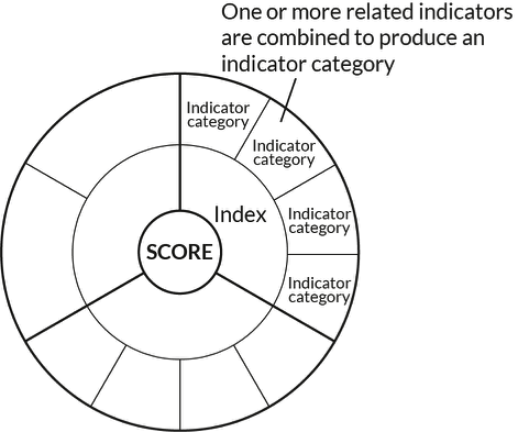Image of scores for indicator categories.